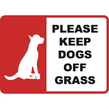 Keep Dogs of Grass Sign - Yard Sign - No Poop On Lawn Signs