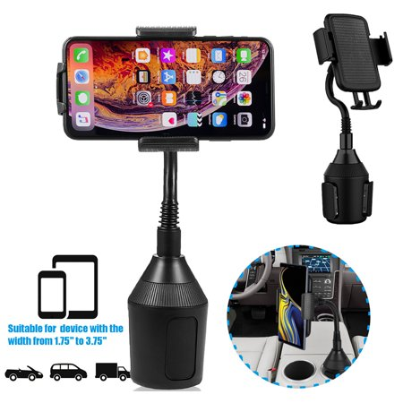 Adjustable Cup Holder Car Mount for iPhone Cell Phone Universal Cup Holder - image 1 of 10