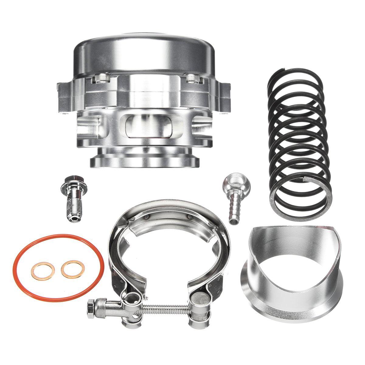 Universal turbo 35 PSI 50mm Aluminum Turbo BOV Intercooler Boost V-BAND Blow Off Valve