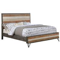 Furniture of America Sizzon California King Platform Bed in Gray