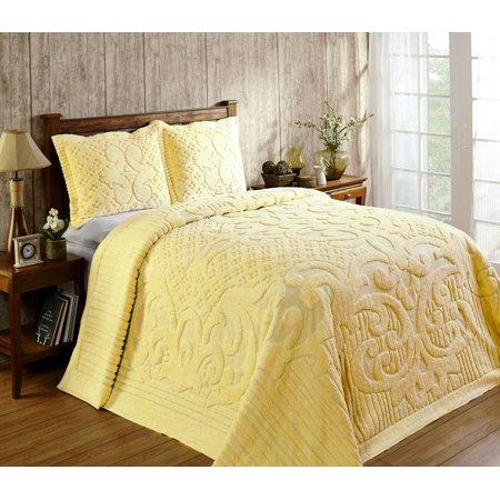 Ashton Chenille Bedspread Twin 81x110 Yellow Walmart Com