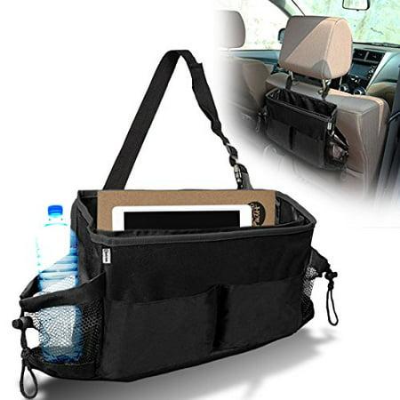 Zento Deals Car Seat Headrest Durable Black Multipurpose Waterproof Foldable Multi-Pocket (Best Deals On Seat Cars)