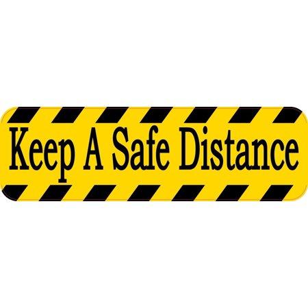 10in x 3in Keep A Safe Distance Sticker