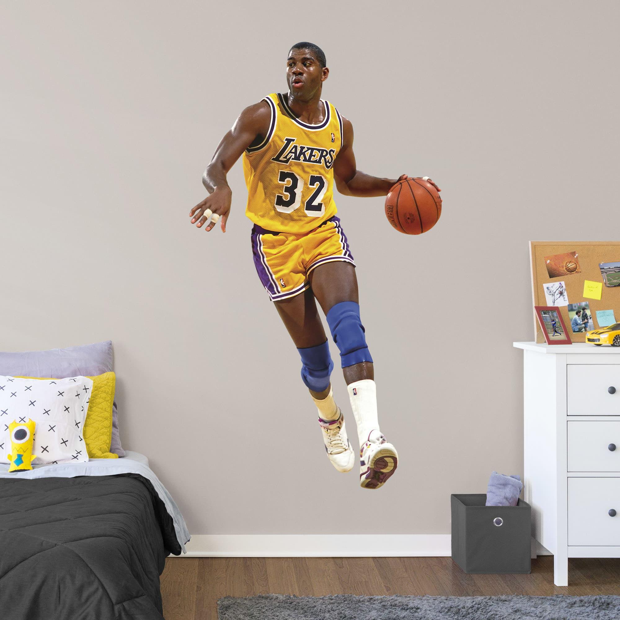 Fathead Magic Johnson Life Size Officially Licensed Nba Removable Wall Decal Walmart Com Walmart Com