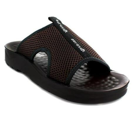 7424ff1062bdb Aerosoft Footwear A5103BrownUS Men 10 Tiki Men Sandals - Brown, US Size 10