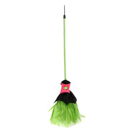 Girls Spiderina Broom - Halloween Cheese Brooms