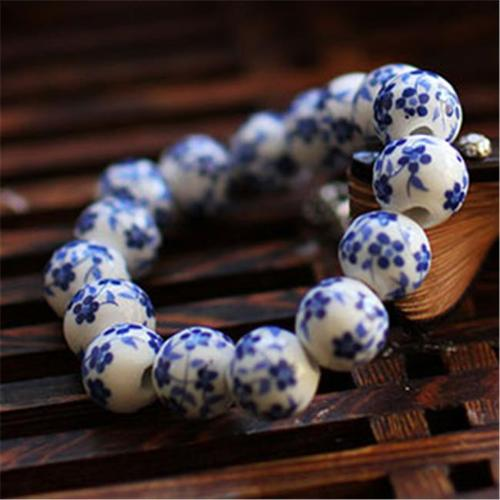 Merit 15958 Blue And White Porcelain Beads Bracelet