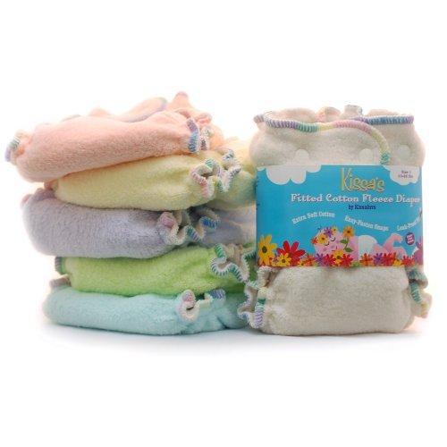 Kissaluvs Fitted Cloth Diapers - 3 Pack Solid Colors