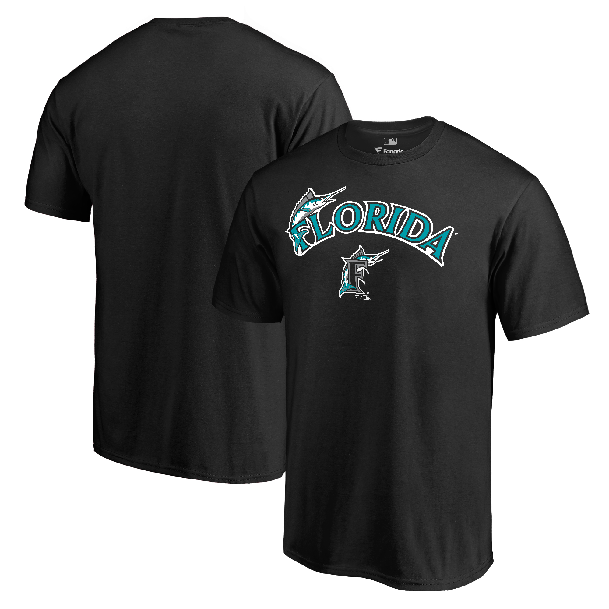 Miami Marlins Fanatics Branded Big & Tall Cooperstown Collection Wahconah T-Shirt - Black