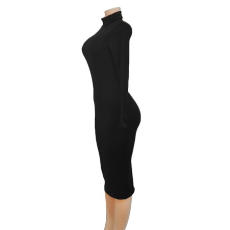 Yellowradio Sexy Women Clubwear High Collar Long Sleeve Slim