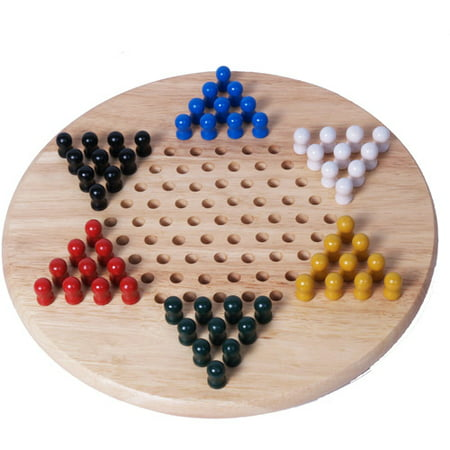Classic Games Collection Chinese Checkers with Wood (Chinese Checkers Game Board)