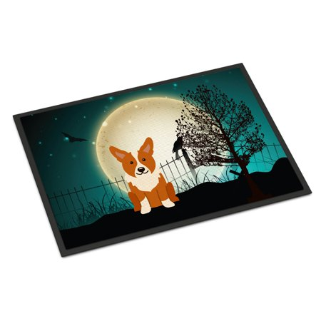 Halloween Scary Corgi Door Mat (Halloween Doormat With Scary Sounds)