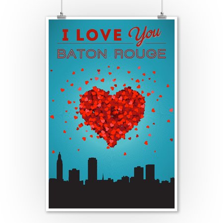 I Love You Baton Rouge, Louisiana - Lantern Press Artwork (9x12 Art Print, Wall Decor Travel Poster)