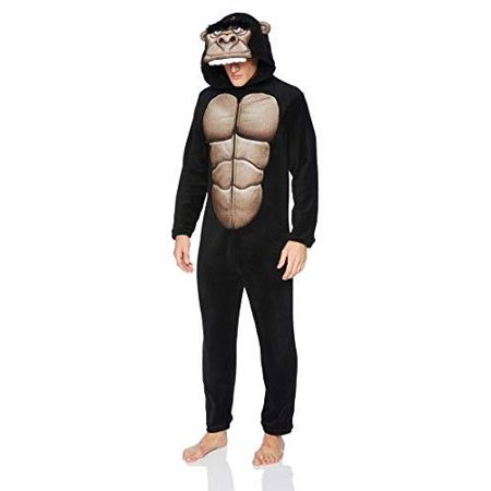 Briefly Stated Men's Gorilla Union Suit, Gorilla Black, Size: Large