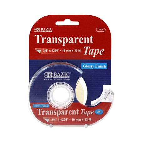 New 402406   3 / 4 Inch X 1296 Inch Transparent Tape W / Dispenser (24-Pack) Office Supply Cheap Wholesale Discount Bulk Stationery Office Supply Footed](Wholesale Tape)
