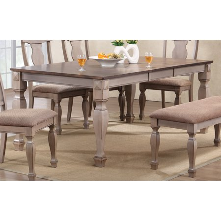 2 tone brown wood rectangle dinette dining room table for 2 tone dining room tables
