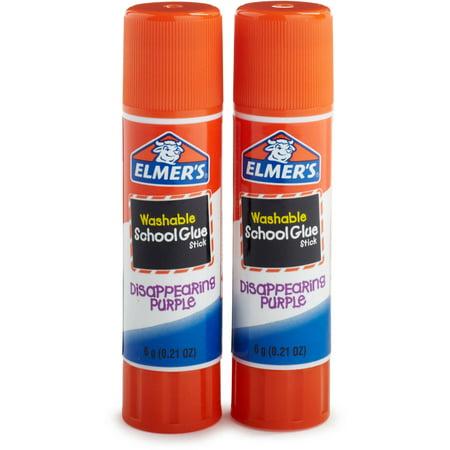 Elmer's Disappearing Purple Washable School Glue Sticks, 0.21 Ounces, 2 Count (Uhu Large Glue Sticks)