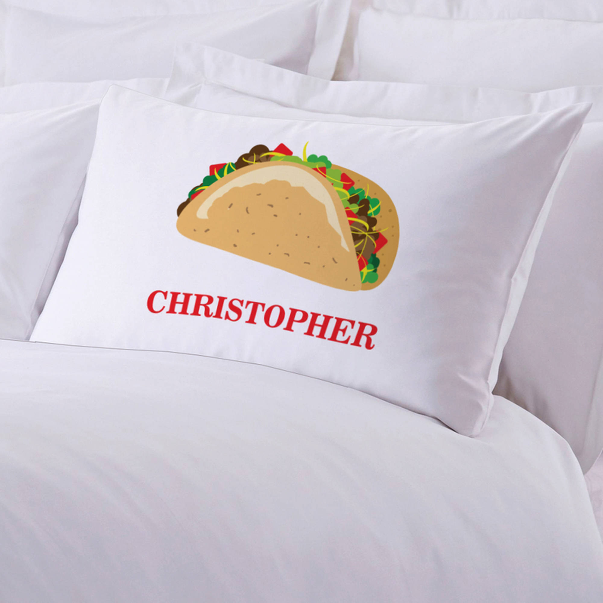 "Personalized Taco Pillow Case, 20"" x 30"""