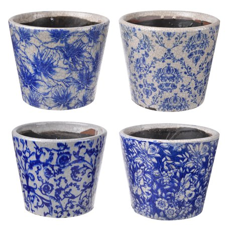 A Home Azul Assorted Traditional Planters, Set of 4