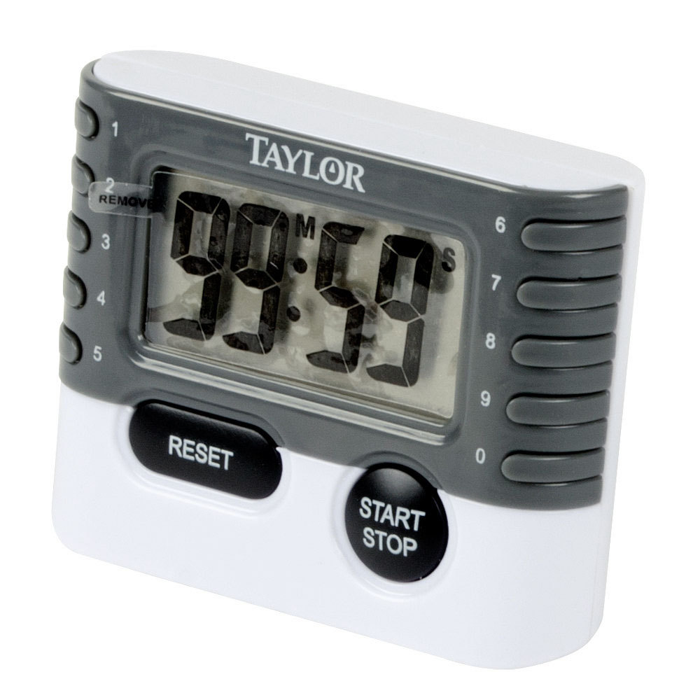 "6-Pack Taylor 10 Key Digital Kitchen Household Baking Timer 1.2/"" LCD Readout"