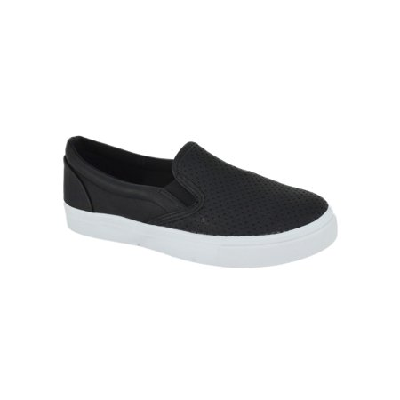Tracer Black Casual Sneakers Slip On Soda Flat Women Shoes Loafers White - Vans Slip Ons Girls