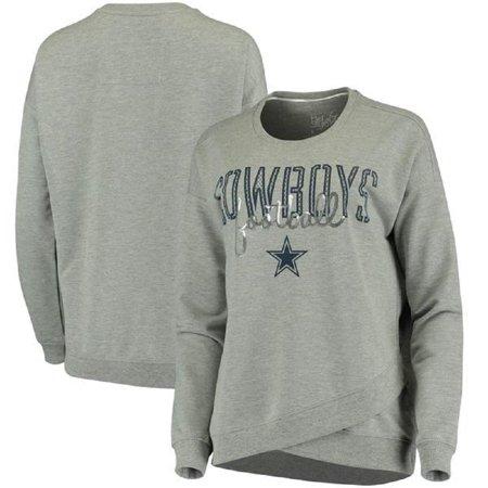 b393e014 Dallas Cowboys Youth Girls Helen Crew Long Sleeve T-Shirt