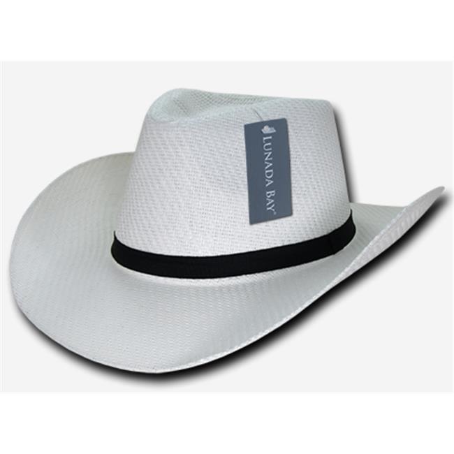 Decky 539-PL-WHT-07 Paper Mesh Cowboy hat Plain Extra Large ... 0706652421a4