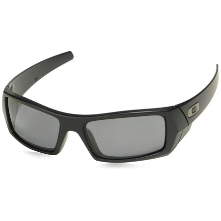 Oakley Men's OO9014 Gascan Rectangular Sunglasses, Matte, Black, Size 60 mm Oakley Black Lens
