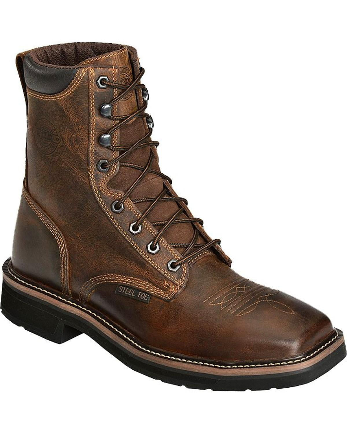 Justin Original Work Justin Men S Stampede 8 Quot Lace Up