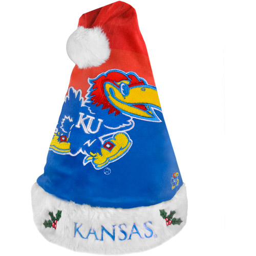NCAA 2011 Colorblock Santa Hat, University of Kansas Jayhawks