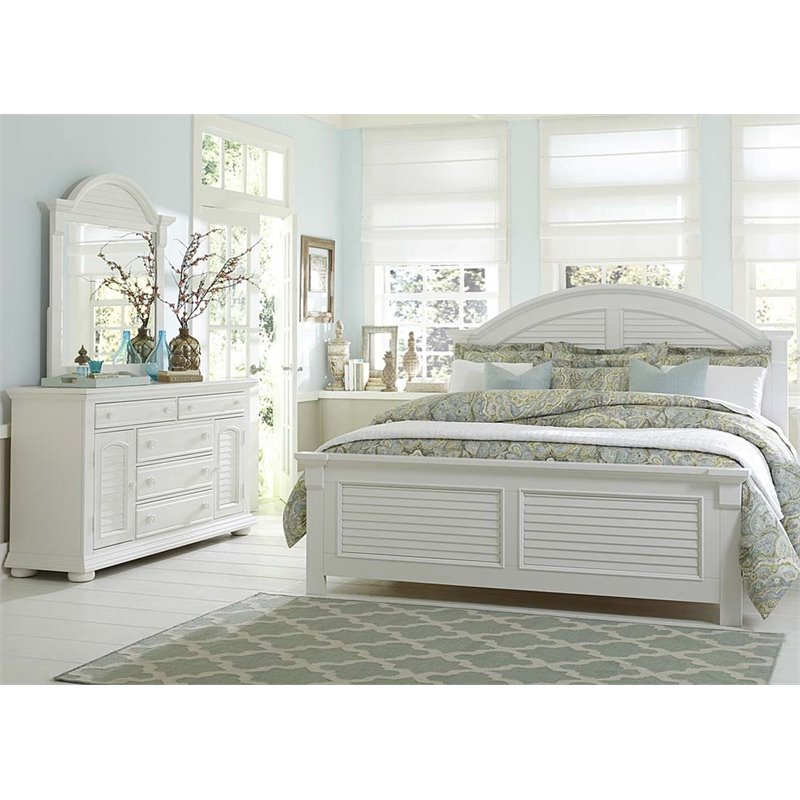 Liberty Furniture Summer House I 3 Piece King Panel Bedroom Set