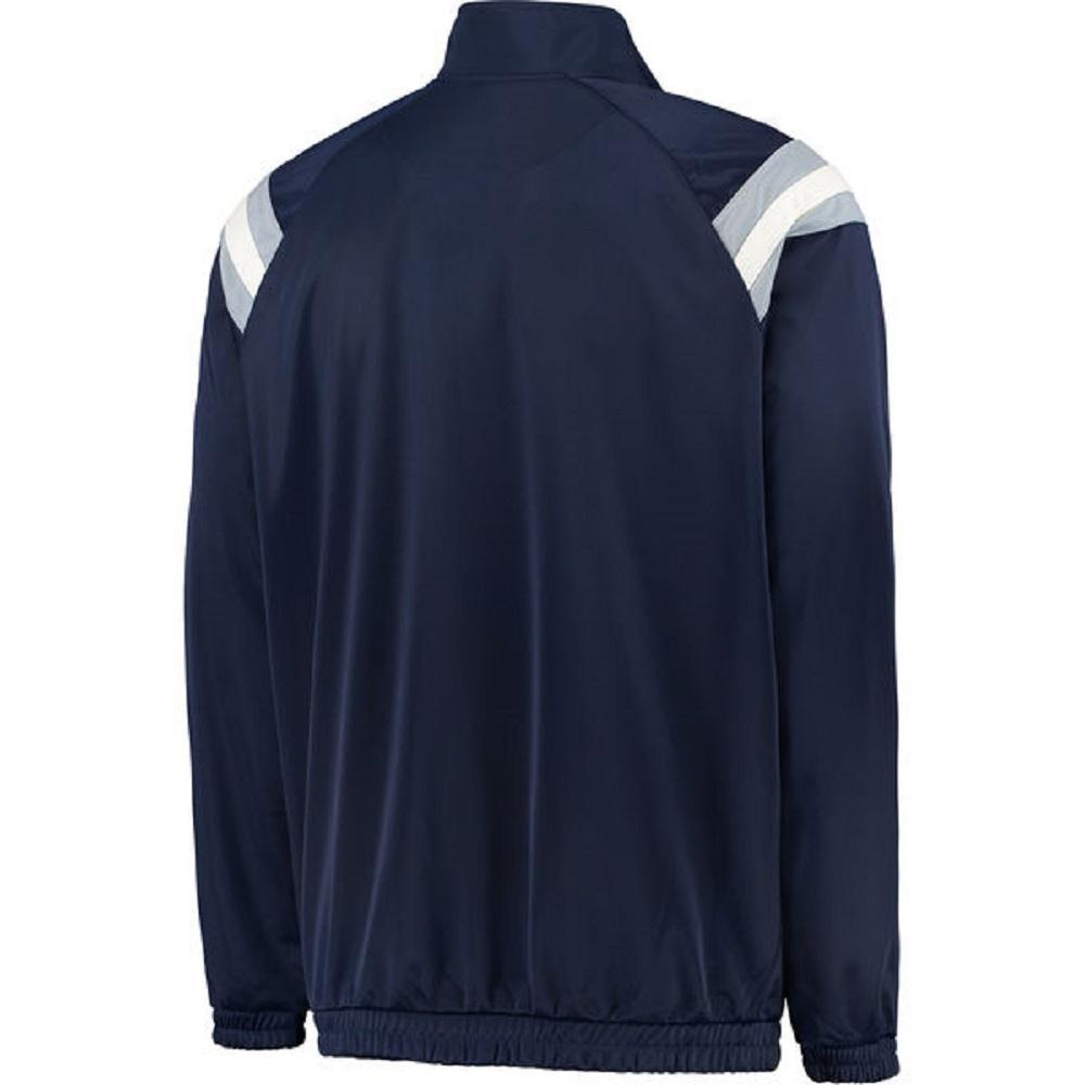 Dallas Cowboys Men's Navy Applique Centerfield Full-Zip Track Jacket by Dallas Cowboys Merchandise