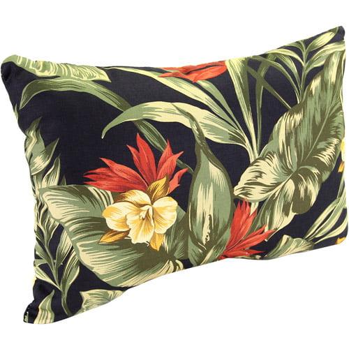 Jordan Manufacturing Rectangle Indoor/Outdoor Patio Toss Pillow, Sunset Ebony