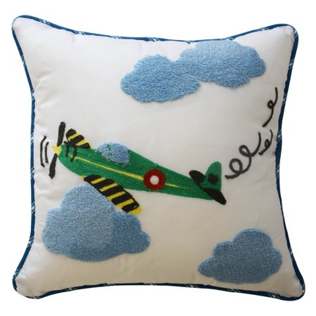 In The Clouds Airplane Decorative Pillow By Waverly Walmart Amazing Airplane Decorative Pillow