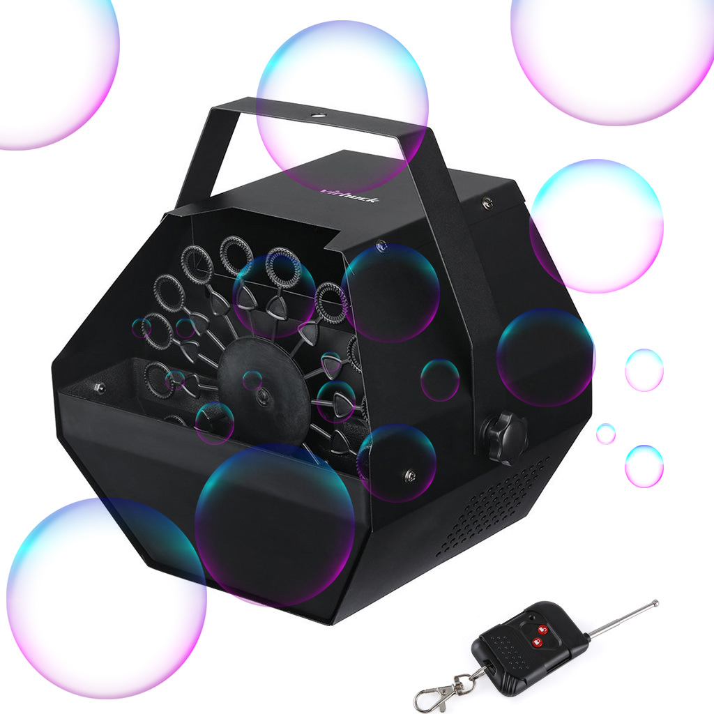 Wireless Bubble Machine Portable Electric Bubble Maker Bubble Blower Machine,Remote control Automatic 2to1 Control,with High Output,Virhuck Branded