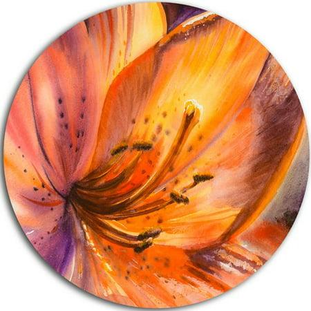 Design Art 'Orange Lily Flower' Graphic Art Print on Metal