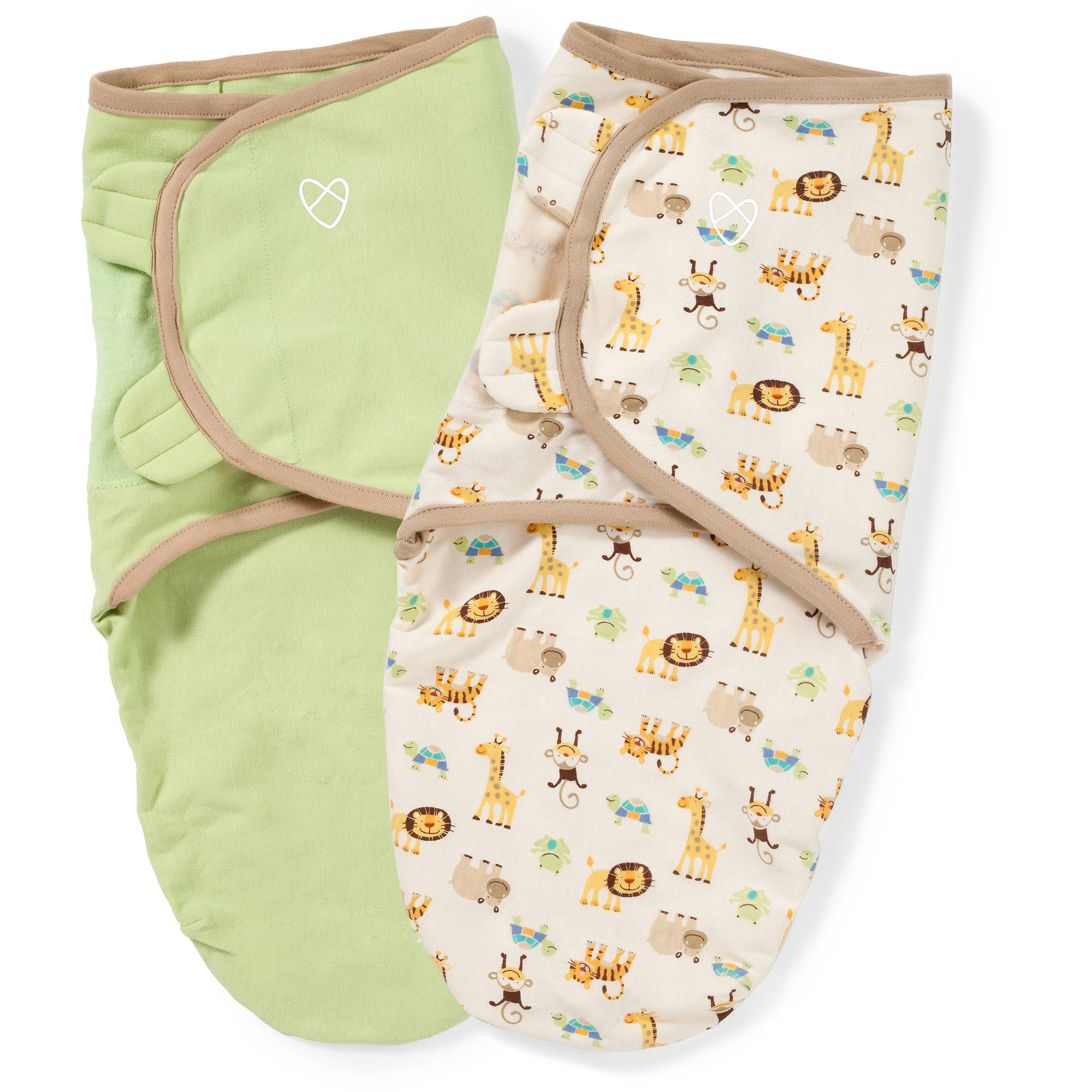SwaddleMe Original Organic Swaddle, 2-Pack, Zoo, Small
