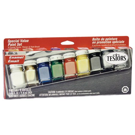 Testors All-Purpose Gloss Enamel Paint Set, 8-Colors