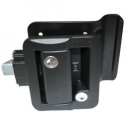 Industrial Trailer - Travel Trailer Lock, Black, Fastec Lock RV Paddle Style By Fastec Industrial