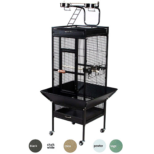 "Prevue Select Wrought Iron Cockateil Bird Cage 18""x18x57"", color: Black"