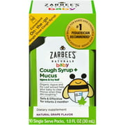 Zarbee's Naturals Baby Cough Syrup + Mucus, Natural Grape, 10 Single Serve Packs