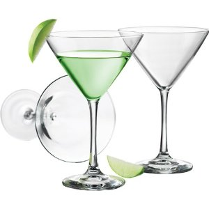Libbey 12-Ounce Midtown Martini Glass, Clear, 4-Piece Multi-Colored