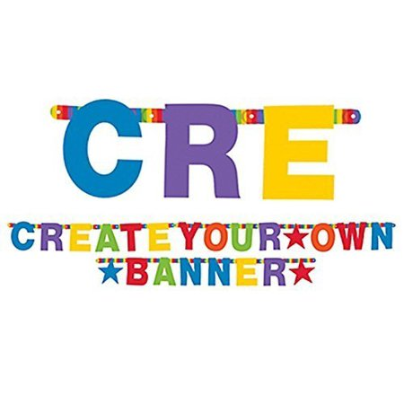 Create Your Own Rainbow Customizable Letter Banner-84 pcs (Customizable Banner)