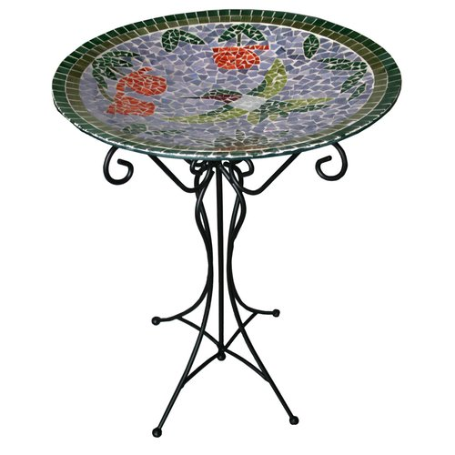 Gardener Select Mosaic Bird Bath & Stand