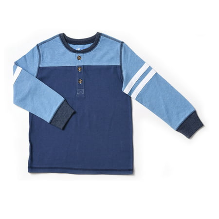 Baby Toddler Boy Color blocked Henley Varsity Long Sleeve T-shirt