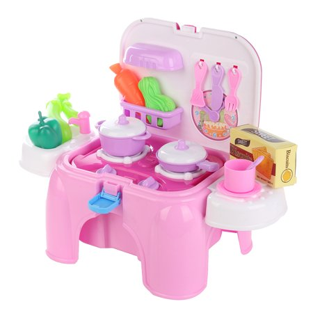 Play Food Dishes Set- Play Fruits - Play Dishes - Pots and Pans - Play Kitchen Cooking Playset Utensils - Mini Stove (lights & sounds) Best Gift For Toddlers Boy Girl - image 12 de 18