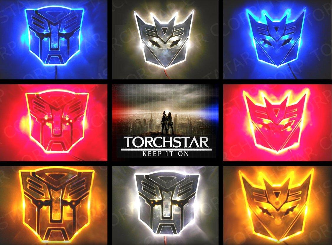 Edge Glowing Led Transformers Autobots Car Emblem White Walmart