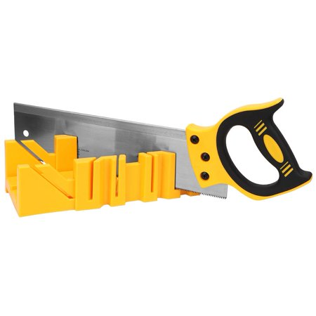 YLSHRF 12 inch ABS Plastic Multiple Angle Clamping Mitre Box with 14 inch Back Saw ,Mitre Box Back Saw,Clamping Box