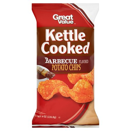 Great Value Kettle Cooked Barbecue Flavored Potato Chips  8 Oz