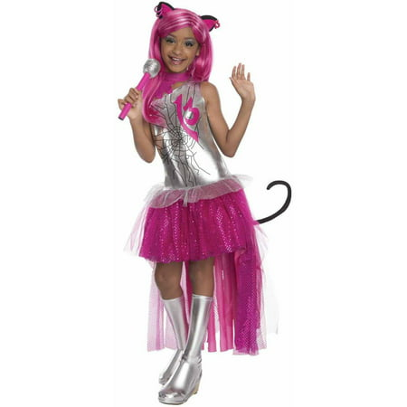 Monster High Catty Noir Girls' Child Halloween Costume - Football Player Halloween Costume Girl